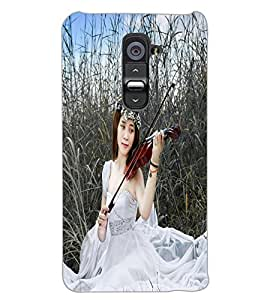 LG G2 MUSIC GIRL Back Cover by PRINTSWAG