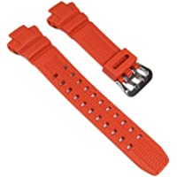 Casio 10370830 - Cinturino per orologio, uomo, resina, colore: arancio