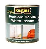 Rustins - Vernice di fondo Problem Solving, per interni ed esterni, disponibile in barattolo da 250/500/1.000 ml, colore: Bianco 250ML