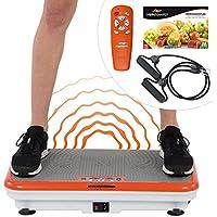 Preisvergleich für Vibro Shaper Vibrationsplatte Ganzkörper Trainingsgerät rutschfest große Fläche inkl Trainingsbänder Ernährungsplan das Original von Mediashop