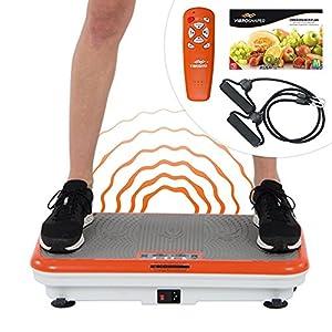Mediashop VibroShaper, Vibrationsplatte, Ganzkörper Training | 3 Stufen, 99 Geschwindigkeiten, Fernbedienung, Trainingsbänder, Ernährungsplan, Übungsplan | Das Original aus dem TV