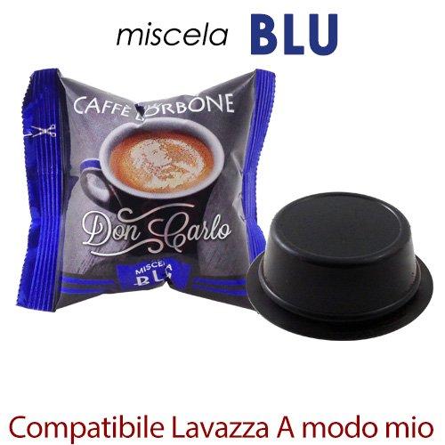 Don Carlo Kaffeekapseln, passend für Kaffeemaschine A Modo Mio, blaue Mischung, 300Stück