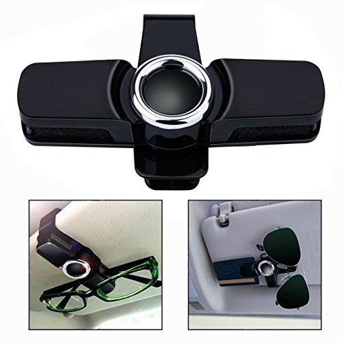 OFKPO Universal Brillenhalter für Auto Sonnenblende,Brillen Halter Clip für Sonnenbrille,360°Drehung