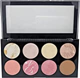 Sivanna Women's Colors Pro HD Blusher/Highlighter/Contour Palette, 18g