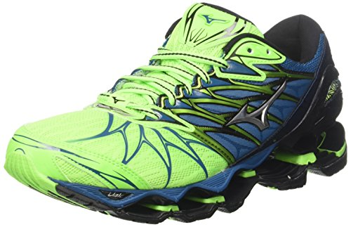 Mizuno Wave Prophecy 7, Zapatillas de Running Para Hombre, Multicolor (Greengeckosilverbluesapphire), 42.5 EU