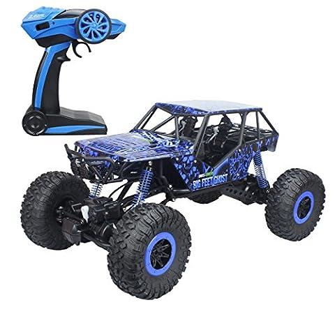 Hugine super grand 1:10 échelle RC voiture hors véhicule routier 2.4Ghz 4WD buggy télécommande monstre camion hobby jouets pour les enfants (Bleu)