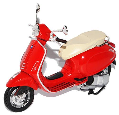 Preisvergleich Produktbild Vespa Piaggio Primavera Rot Ab 2013 1/12 New Ray Modell Motorrad mit individiuellem Wunschkennzeichen