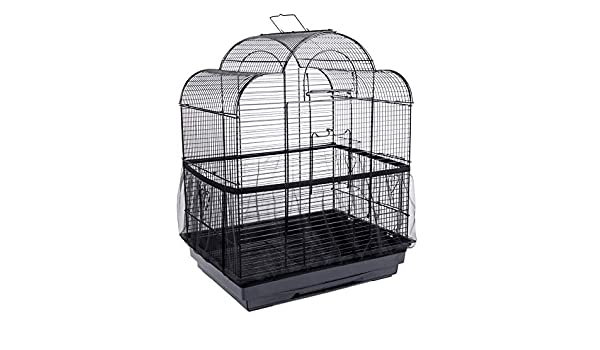 Huiben Bird Cage Seed Catcher Seeds Guard Skirt Birdcage Cover Parrot Nylon Mesh Netting Parrot Stretchy Shell Skirt Traps Cage Basket Soft Airy