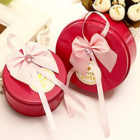 SADASD Gift Box Wedding Continental Creative Tinplate Hee-Sugar Box Marriage