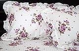Premium Designer Crafted Lavender Pink Laced Bedsheet with Frills 100% pure cotton luxury designer super king bedsheet - 225 TC