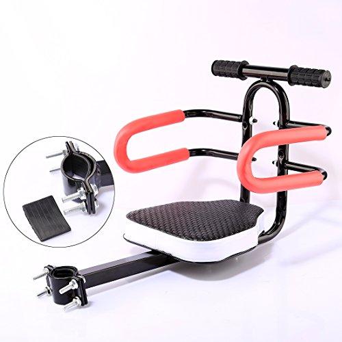 MAJOZ Fahrrad Kindersitz,Modischer Abnehmbarer Fahrrad-Vordersitz Kindersitz mit Griff für Herrenfahrrädern und Damenrädern