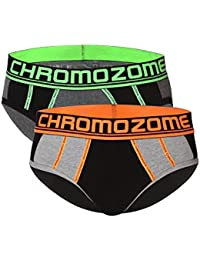 Chromozome Men's Solid Brief (Pack of 2)