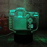wangZJ Night Light 3d Illusion/Lumière décorative / 7 veilleuses à couleurs changeantes/Illumination optique/Nouvel appareil photo numérique