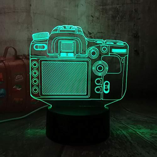 wangZJ 3d Illusion Lampe / 7 Farbwechsel Touch Nachtlicht/Halloween Geburtstagsgeschenk/Nachtlicht/Digitalkamera