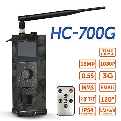 Irfora 16MP 1080 P 3G SMS GSM Trail Jagdkamera Jagd Spiel Kamera Outdoor Wildlife Scouting Kamera mit PIR Sensor Infrarot Nachtsicht IP54 Wasserdicht