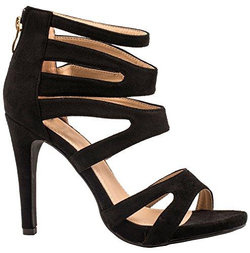 Elara , Hi-Top Slippers femme Noir
