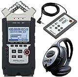 ZOOM H4n PRO Handy Recorder + RC4 Fernbedienung + KEEPDRUM Kopfhörer