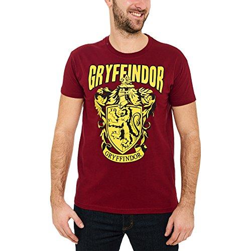 Preisvergleich Produktbild Elbenwald Harry Potter Herren T-Shirt Gryffindor Wappen Baumwolle Rot - M