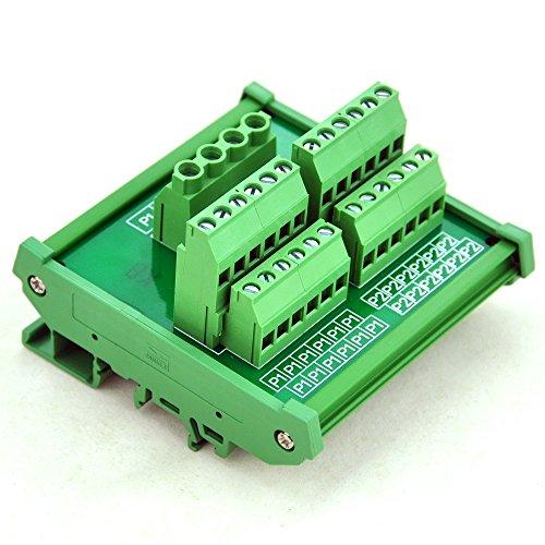 Electronics-Salon DIN Rail Mount 12 Position Power Distribution Modul. Dc-power-distribution-modul