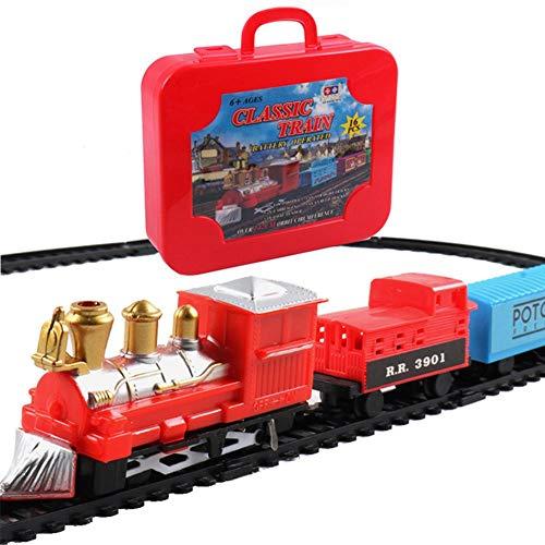 Xploit Trenino del Treno di Natale Set di binari per Bambini Giocattolo educativo Elettrico per Bambini Treno Elettrico per vagoni ferroviari per Bambini