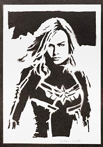 Captain Marvel Poster Plakat Handmade Graffiti Street Art - - Spiderman Modernen Kostüm