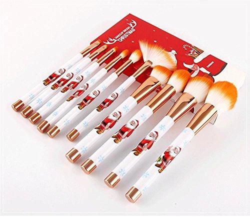 n Make-up Pinsel Set Foundation Blending Erröten Concealer Auge Gesicht Lip Brushes für Powder Liquid Cream Komplette Make-up Pinsel Kit synthetische Borsten , Orange ()