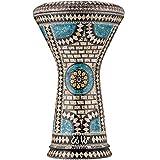 Die Sapphire Orchid Darbuka von Gawharet El Fan (World Percussion) - Arabische Darbouka-Trommel/Doumbek/Darabuka/Durbaka/Darbka mit weißem Kopf/Fell von Malik