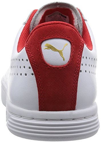 Puma Court Star Crafted, Baskets Basses Mixte Adulte Blanc (White/High RiskRouge)
