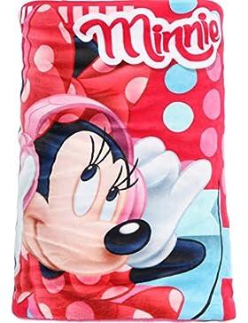 Bufanda braga de cuello diseño Minnie (Disney) forro fucsia