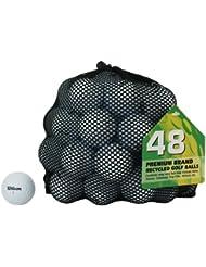 Second Chance Wilson 48 Balles de golf de récupération Qualité supérieure Grade A