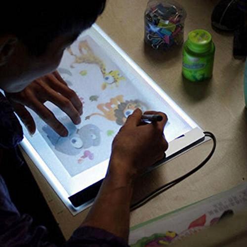 LED tavoletta luminosa Tracing Light Box Consiglio artista del tatuaggio A4 Disegno Tracing Tabella casella Visualizza Luce Pad Tabella Stencil di visualizzazione