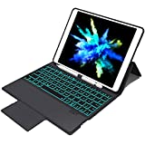 Clavier Bluetooth Compatible avec iPad 9.7 (2017) / 2018 / Air 1 / Air 2 / Pro 9.7,...
