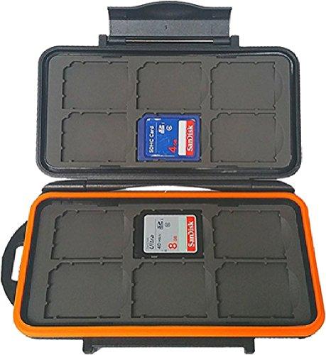 BoneView Wetterfeste Aufbewahrungstasche für Trail Kamera Kartenleser SD Karten 12 SD Card Hard Case -