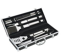 Küchenprofi BBQ Set PHOENIX 8-teilig,Grill Zubehör Set, schwarzer Aluminium Koffer, ideales Geschenkset