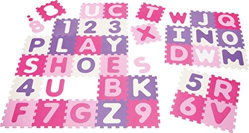Playshoes Puzzleteppich Zahlen, rosa, 36 teilig