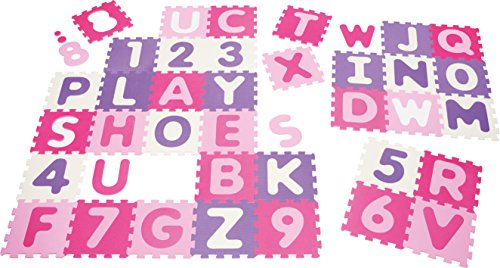 Playshoes 308746 - Puzzleteppich Zahlen, pastell, 36 teilig