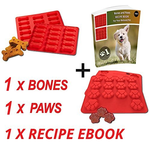 laminas-dog-paws-bones-silicone-baking-molds-recipe-digital-ebook-dogs-paw-shaped-treats-baked-gelat