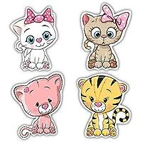 Nourish Cute Cats Fridge Magnets (3 inch x2.5 inch)