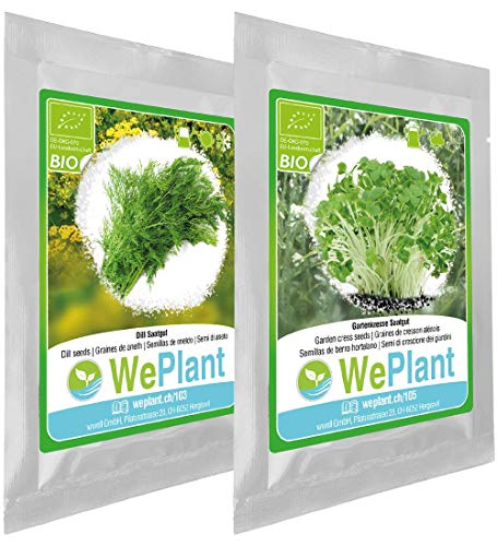 BIO Dill & Gartenkresse Pflanzen-Samen Set - indoor/outdoor