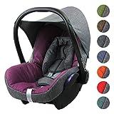 BAMBINIWELT Ersatzbezug für Maxi-Cosi CITI 6-tlg, Bezug für Babyschale, Komplett-Set (grau-pink)