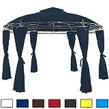 Pavillon blau 350 cm - Gartenzelt Gartenlaube Zelt