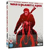 War For The Planet Of The Apes 4K Ultra HD + 3D Blu Ray + Blu Ray Limited Edition Steelbook / Import / Region Free