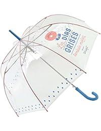 Paraguas largo transparente Mr. Wonderful