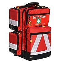 Notfallrucksack in rot aus Nylon LEER von Team Impuls mit 4 Außentaschen preisvergleich bei billige-tabletten.eu