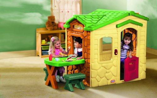 Little Tikes Playhouse - Natural Casa de juegos de suelo - Casas de juguete...