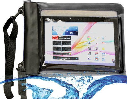 Navitech schwarzes Wasserfestes Case, Wasserfestes Cover für 10 Zoll Tablets Inklusive das ASUS Eee Pad Transformer TF101 / ASUS Transformer Prime TF201 / ASUS Transformer Pad TF300 / Asus Transformer Pad Infinity TF700 / Asus Transformer Pad TF701 / Asus MeMo Pad 10 / Smart ME301T / Asus ME302C MeMO Pad FHD 10 / Asus VivoTab ME400c / Asus Vivo TF600T 10.1 / Asus PadFone X / Asus Transformer Book Duet TD300 / Asus Transformer T100