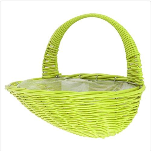 Cestino da parete verde Weave by Ever