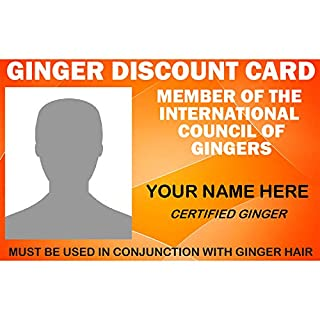 Ginger Discount Card – Customisable Novelty Card