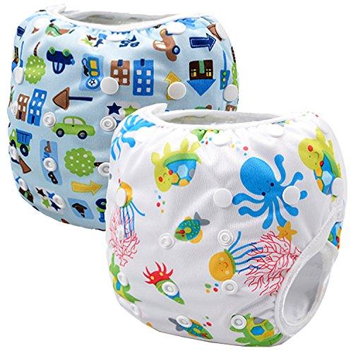 Storeofbaby Pannolini in stoffa per neonati con pannolini rigidi riutilizzabili regolabili per 0-36 mesi