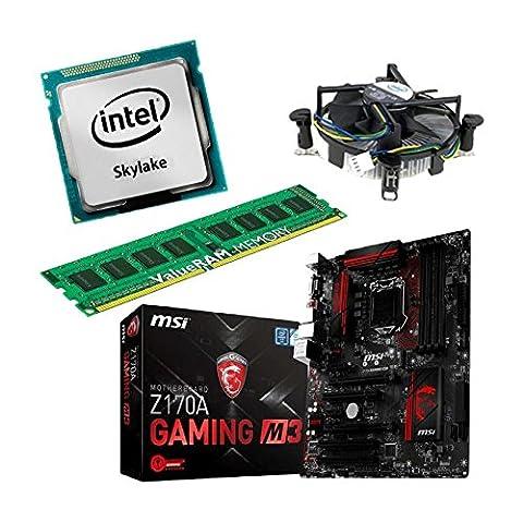 Aufrüstkit Z170A_GAMING M3+i5-6600+8GB Desktop-PC (Intel Core i5-6600 Skylake, 8GB RAM, on Chip: Intel HD530, kein